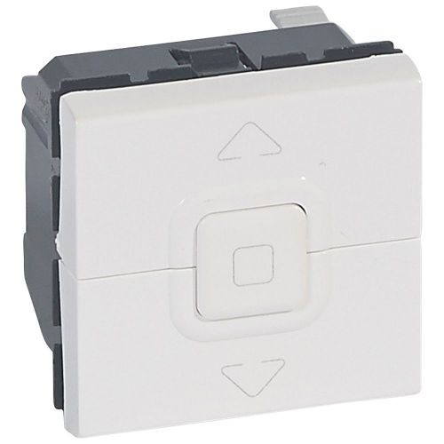 Mosaic - Interruptor para estores e toldos - 2 módulos - branco antimicrobial