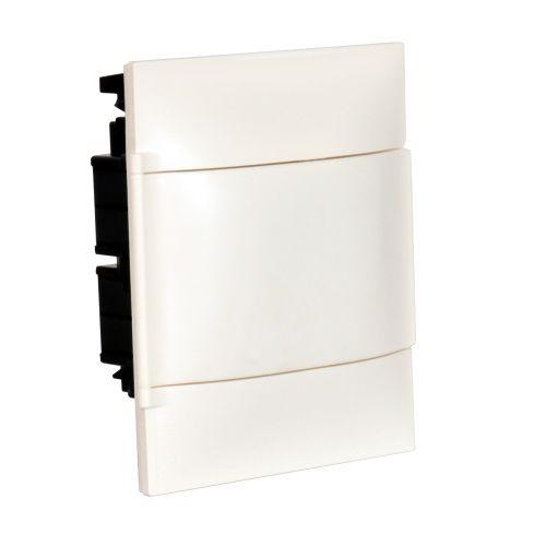 Practibox S - Quadro de encastrar  p/  paredes ocas  8 módulos,  porta branca