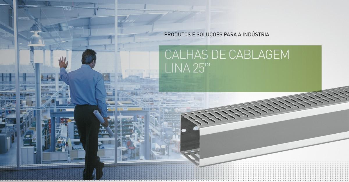 Calha de cablagem Lina 25�: Rapidez e facilidade de instalação