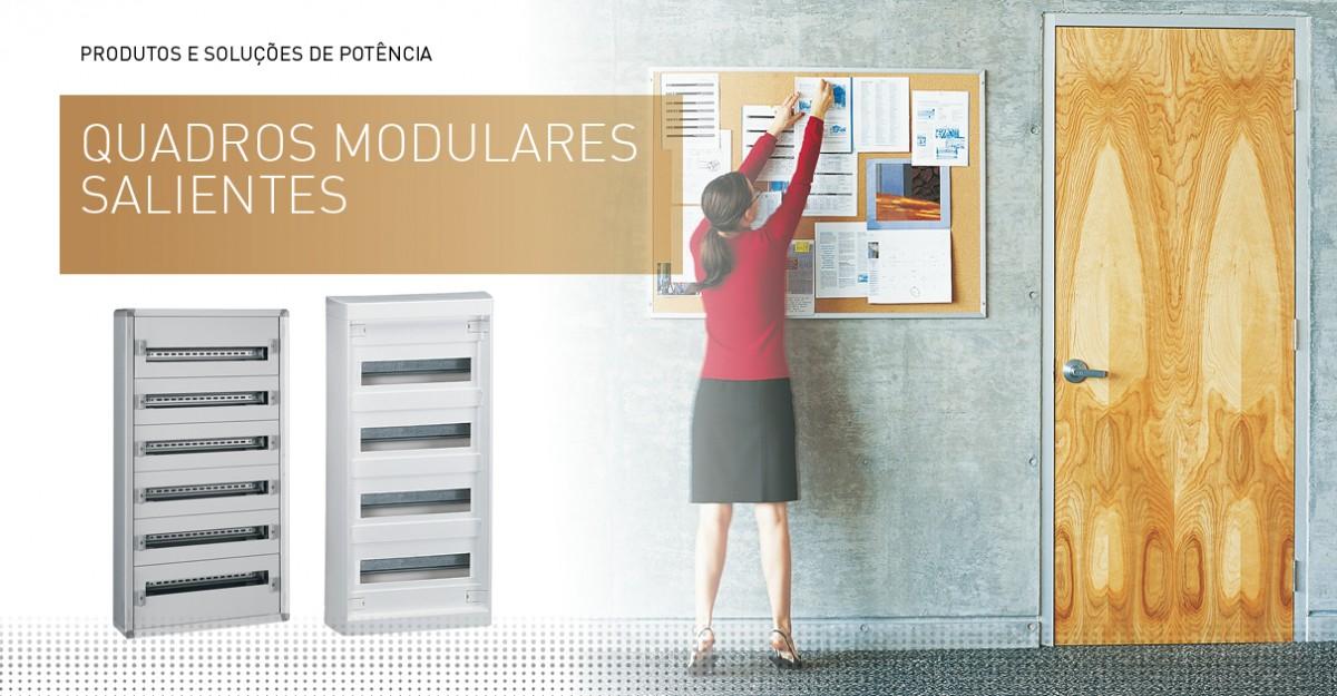 Quadros modulares salientes