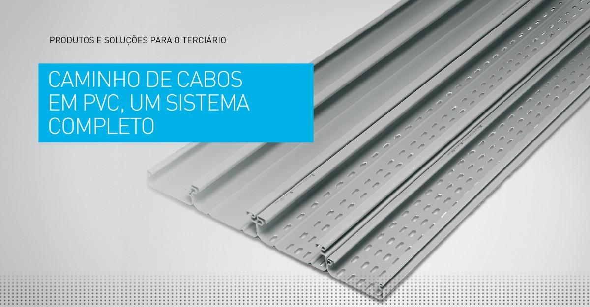 Caminhos de cabos em PVC